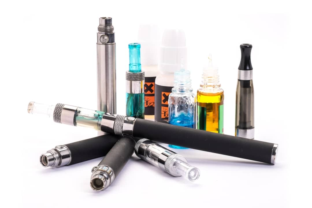 Assortment of vaping products